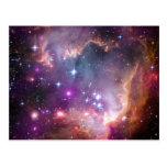 La supernova rosada del universo de la nebulosa de postal