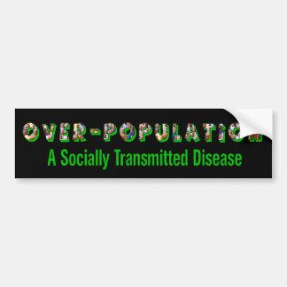 La superpoblación es un STD Pegatina Para Auto