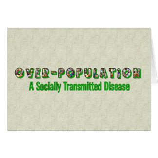 La superpoblación es un STD Tarjeta De Felicitación