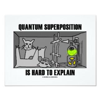 """La superposición de Quantum es dura de explicar Invitación 4.25"""" X 5.5"""""""