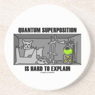 La superposición de Quantum es dura de explicar Posavasos Cerveza