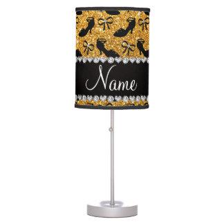 La suposición amarilla conocida personalizada del lámpara de mesilla de noche