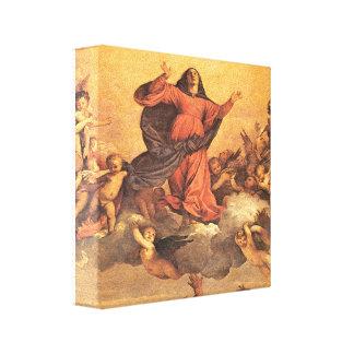 La suposición de Maria en cielo Lona Envuelta Para Galerias