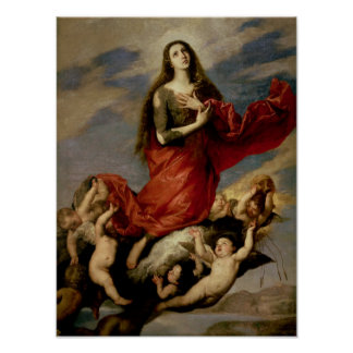 La suposición de Maria Magdalena, 1636 Poster