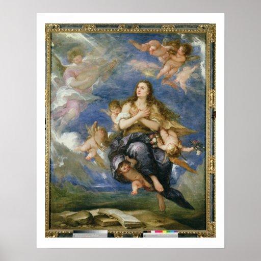 La suposición de Maria Magdalena (aceite en lona) Póster