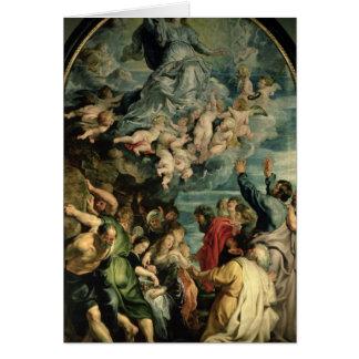 La suposición del Altarpiece de la Virgen, 1611/14 Tarjeta De Felicitación