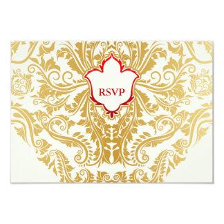 """La suposición prospera el boda árabe indio de oro invitación 3.5"""" x 5"""""""