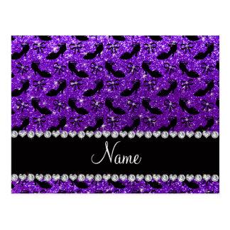 La suposición púrpura conocida personalizada del tarjeta postal