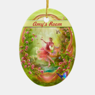 La suspensión de puerta del jardín secreto/el adorno ovalado de cerámica