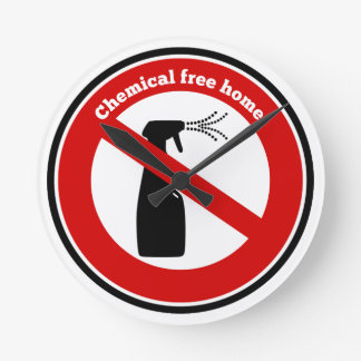 La sustancia química libera a casa reloj redondo mediano