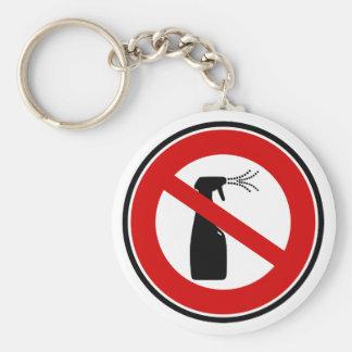 la sustancia química libre del aerosol libera llavero redondo tipo pin