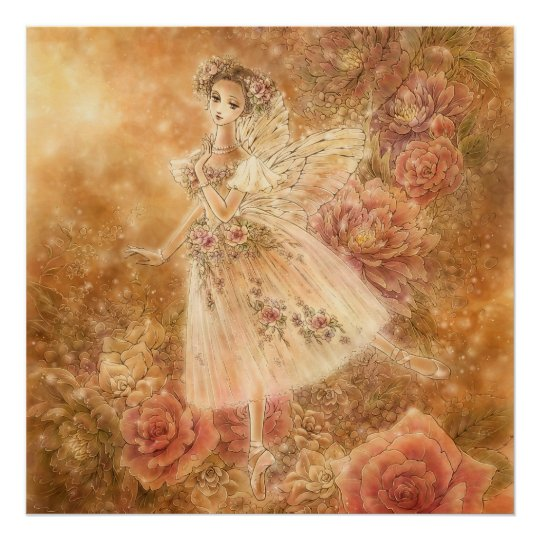 La Sylphide Ballet Art Print (Square)