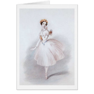La Sylphide Ballet, Greeting Card