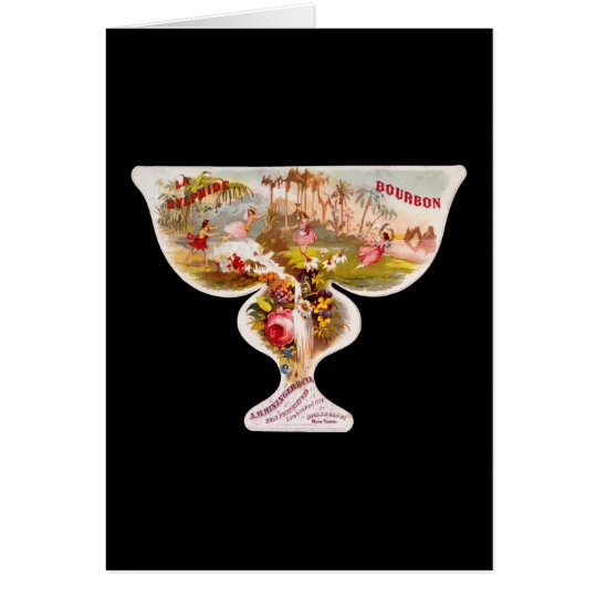 La Sylphide bourbon whiskey label Card