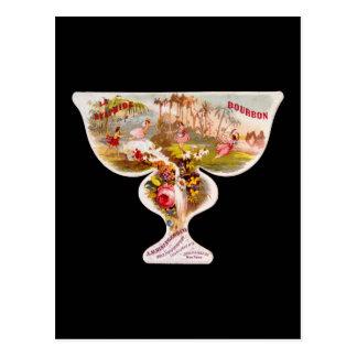La Sylphide bourbon whiskey label Post Cards