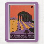 La Syrie et le Liban French Vintage Travel Poster Mouse Pad