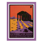 La Syrie et le Liban French Vintage Travel Poster Postcard