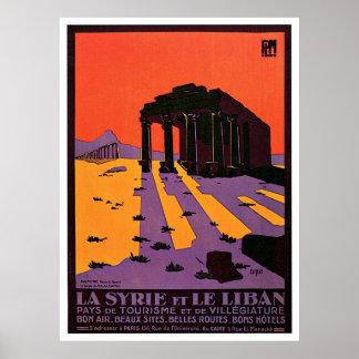 La Syrie Et Le Liban / Palmyre France Vintage Poster