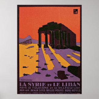 La Syrie et le liban Palmyre Poster