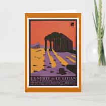 La Syrie et Le Liban Vintage Travel Poster Holiday Card