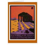 La Syrie y poster del viaje de Le Liban Vintage Tarjeta De Felicitación