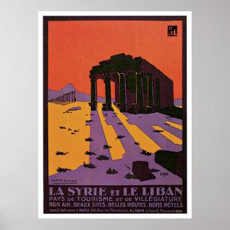 """""""La Syrie y poster del viaje del vintage de Le Lib"""