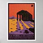 La Syrie y poster del viaje del vintage de Le Liba