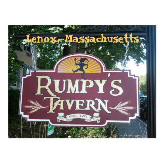 La taberna de Rumpy en Lenox Tarjetas Postales