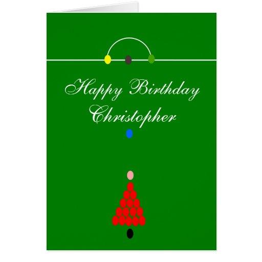 La tabla de billar apenas añade el cumpleaños tarjeta de felicitación