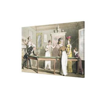 La tabla de billar, 'del viaje del Dr. Syntax aden Lona Envuelta Para Galerías