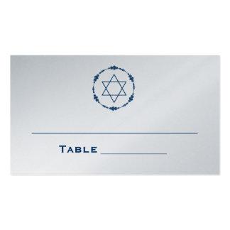 La tabla de tarjetas del asiento de Mitzvah de la  Tarjetas Personales
