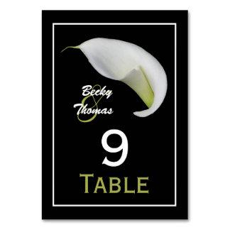 La tabla del boda de la cala numera tarjetas