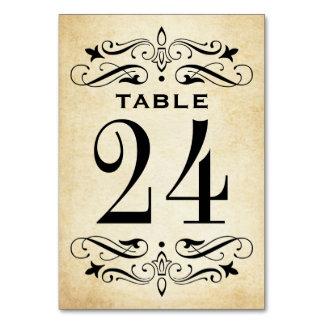 La tabla del boda del vintage carda el Flourish