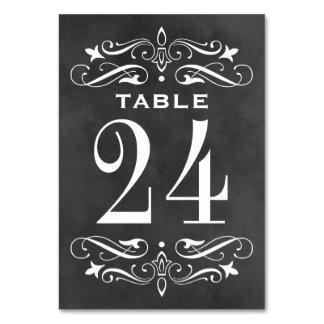 La tabla del boda del vintage carda Flourish de la
