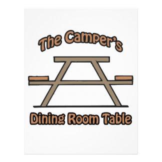 La tabla del comedor de los campistas tarjetas publicitarias