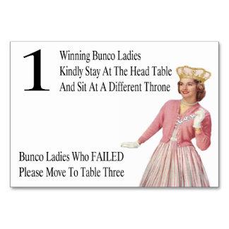 La tabla divertida de Bunco carda a la reina #1
