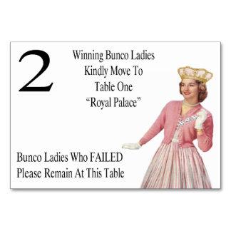 La tabla divertida de Bunco carda a la reina #2
