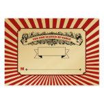 La tabla # el lugar carda rojo del circo plantilla de tarjeta de visita