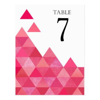 La tabla geométrica de los triángulos numera fusch postal