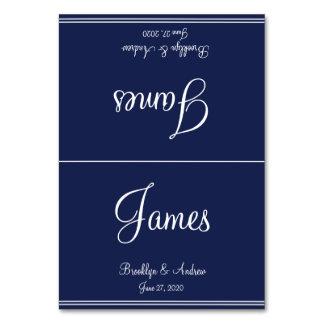 La tabla náutica azul del boda carda tarjetas del
