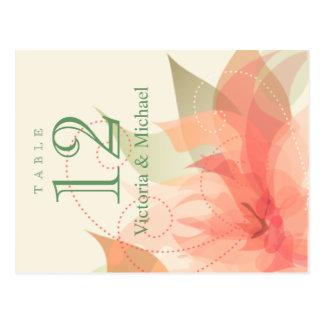 La tabla numera el hielo anaranjado floral postal