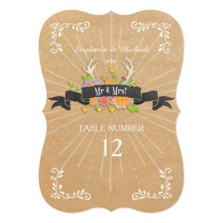 La tabla numera el Wildflower de la asta de los Anuncio Personalizado