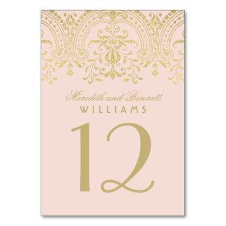 La tabla número el | del boda se ruboriza encanto