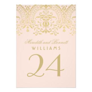 La tabla número el del boda se ruboriza encanto