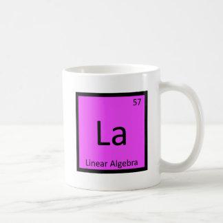La - tabla periódica de la química de la taza de café