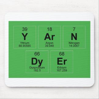 La tabla periódica el tintóreo del hilado que alfombrilla de ratón