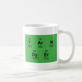 La tabla periódica el tintóreo del hilado que taza