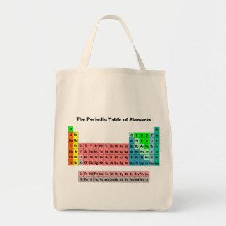 La tabla periódica (estilo simple) bolsa tela para la compra