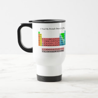 La tabla periódica (estilo simple) taza de café