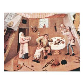 La tabla que representa los siete pecados mortales invitaciones personales